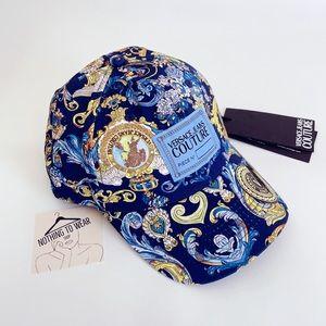 ⭕️ VERSACE JEANS Cap Hat Blue Versailles Gold Logo